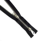Молния TIT Т5 мет.  90 см (2 замка) никель/чёрный шлифованный