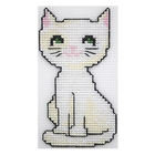Набор для вышивания HP Kids П-0014 «Белый кот» 13,5*7,5см