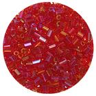 Бисер Тайвань рубка (уп. 10 г) 1165 красный радужный