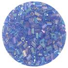 Бисер Тайвань рубка (уп. 10 г) 1166 св.-синий радужный