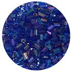 Бисер Тайвань рубка (уп. 10 г) 1168 синий радужный