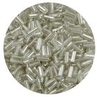 Бисер Тайвань стеклярус (уп. 10 г) 0021 серебристый