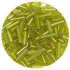 Бисер Тайвань стеклярус (уп. 10 г) 0024 салатовый