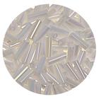 Бисер Тайвань стеклярус (уп. 10 г) 0401белый перламутровый