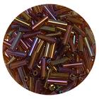 Бисер Тайвань стеклярус (уп. 10 г) 0409 коричневый радужный