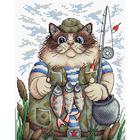 Набор для вышивания М.П.Студия М-215 «Охота на рыбку» 22*17 см