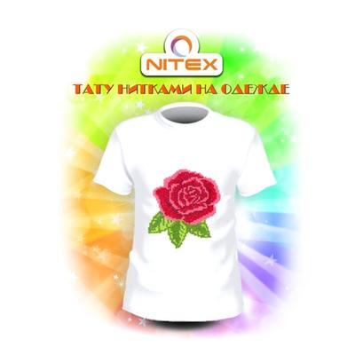 Набор для вышивания Нитекс 7001 «Роза» на одежду 9*10 см в интернет-магазине Швейпрофи.рф
