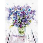 Набор для вышивания Овен №1006 «Голубые виолы» 19*22 см