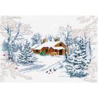 Набор для вышивания Овен №1025 «Сказка зимнего леса» 31*22 см
