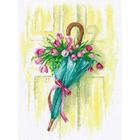 Набор для вышивания Овен №1041 «Цветочное послание» 21*31 см