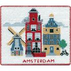 Набор для вышивания Овен №1054 «Столицы мира. Амстердам» 9*8 см