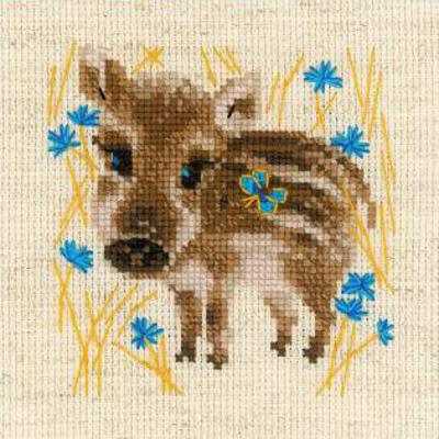 Набор для вышивания Риолис №1756 «Маленький кабанчик» 13*13 см в интернет-магазине Швейпрофи.рф