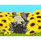Набор для раскрашивания Цветной хамелеон МА1009 «Котенок в подсолнухах»