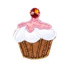 Набор для шитья Кукла Перловка из фетра ПФСБ-1501 брошка с бисером «Вишневый кекс» 5,9*5,1 см