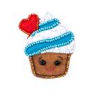 Набор для шитья Кукла Перловка из фетра ПФСБ-1503 брошка с бисером «Кремовый капкейк» 4,9*5,7 см