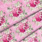 Ткань 48*50 см декоратив. АМ656001 «Великолепный  розарий» 100% хлопок