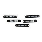 Нашивка украшение метал. 8751 пластина пришивная «classic» чёрный