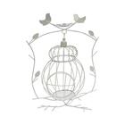 Декор SCB271042 Металл клетка на подставке с птичками