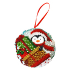 Набор для вышивания бисером Созвездие БИ-105  «Подарки» новогодняя игрушка 8,5*8,5 см