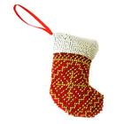 Набор для вышивания бисером Созвездие БИ-106  «Сапожок» новогодняя игрушка 9*6 см