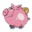 Набор для вышивания Овен №1086 «Свинка-копилка» 9*8 см