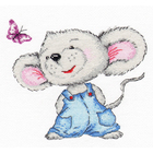 Набор для вышивания Овен №981 «Мышонок» 15*14 см