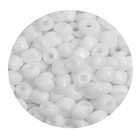 Бисер крупный Тайвань (уп. 10 г) 0041 белый матовый