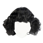 Волосы для кукол QS-10 10 см кудри  чёрный