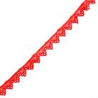 Кружево гипюр  15 мм Р2 (уп.13,71м) красный