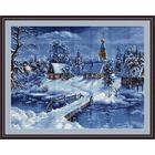 Набор для вышивания Luca-S В447 «Зимний пейзаж» 45*34 см