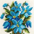 Набор для вышивания с пряжей BAMBINI  X2002 «Пролески» 15*15 см