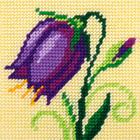 Набор для вышивания с пряжей BAMBINI  X2026 «Колокольчик» 15*15 см