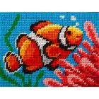 Набор для вышивания с пряжей BAMBINI  X2242 «Коралловые рифы» 15*20 см