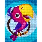 Набор для вышивания с пряжей BAMBINI  X2260 «Попугай» 15*20 см