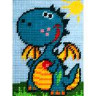 Набор для вышивания с пряжей BAMBINI  X2270 «Дракончик» 15*20 см