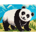 Набор для вышивания с пряжей BAMBINI  X2287 «Панда» 15*20 см