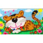 Набор для вышивания с пряжей BAMBINI  X2307 «Полосатые мечты» 15*25 см