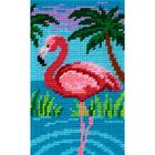 Набор для вышивания с пряжей BAMBINI  X2313 «Фламинго» 15*25 см