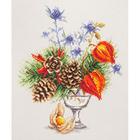 Набор для вышивания Чудесная Игла  №100-001 «Зимний букетик» 20*23 см
