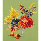 Набор для вышивания Чудесная Игла  №100-005 «Осенний букетик» 20*23 см