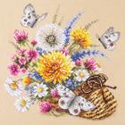 Набор для вышивания Чудесная Игла №40-81 «Луговые цветы» 25*25 см