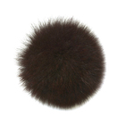 Помпон натуральный 10 см песец  PNP 025 коричневый