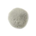 Помпон натуральный  8 см кролик PNK 052 серый