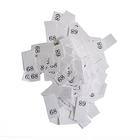 Размерники в пакетике (уп. 1000 шт.) №68 белый