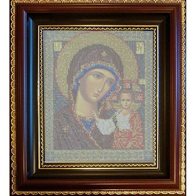 Рамка для икон Кроше №02 «Казанская» (В-148) со стеклом в интернет-магазине Швейпрофи.рф