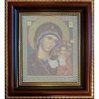 Рамка для икон Кроше №02 «Казанская» (В-148) со стеклом