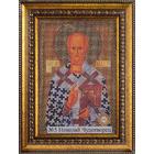 Рамка для икон Кроше №05 «Николай Чудотворец» (В-151) со стеклом
