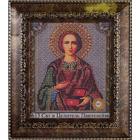 Рамка для икон Кроше №13-Д «Пантелеймон» (В-159) со стеклом