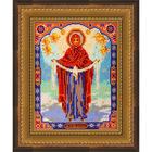 Рамка для икон Кроше №28-Д «Богородица Покрова» (В-174) со стеклом