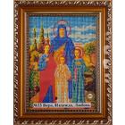 Рамка для икон Кроше №33 «Вера, Надежда, Любовь» (В-179) со стеклом